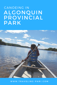 Picture shows me (Pari) Canoeing on Oxtongue Lake in Algonquin Provincial Park