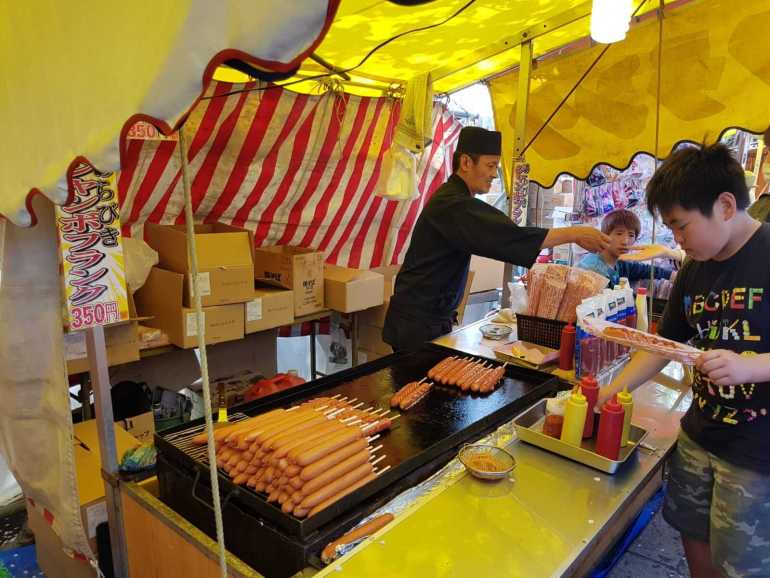 Ueno Park Street Food - Hot Dog On A Stick