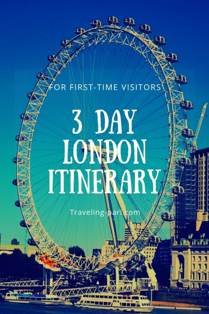 3 Days in London Itinerary for first-time visitors.  Visit the most important tourist attractions in London using the London underground.