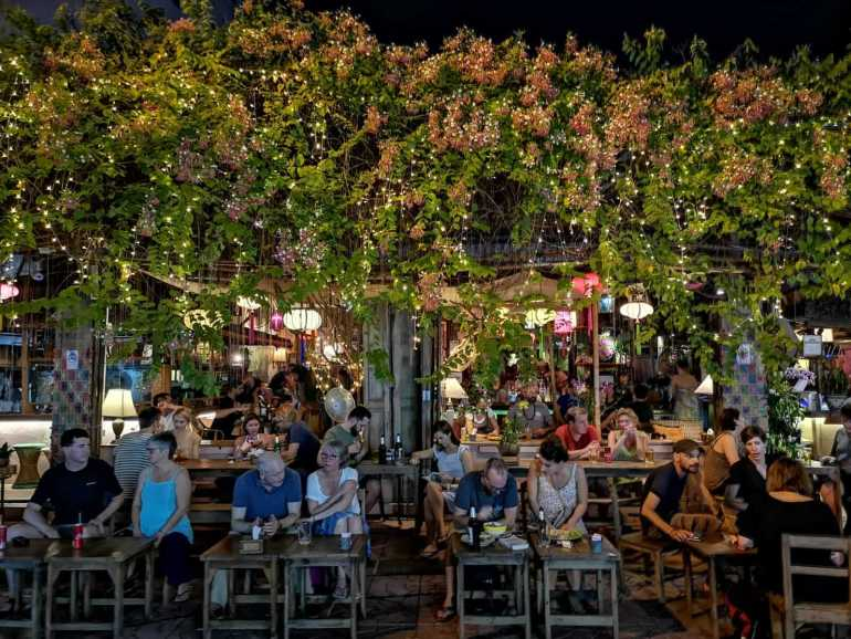 Rambuttri Village is a quieter alternative to the nearby Khao San road.