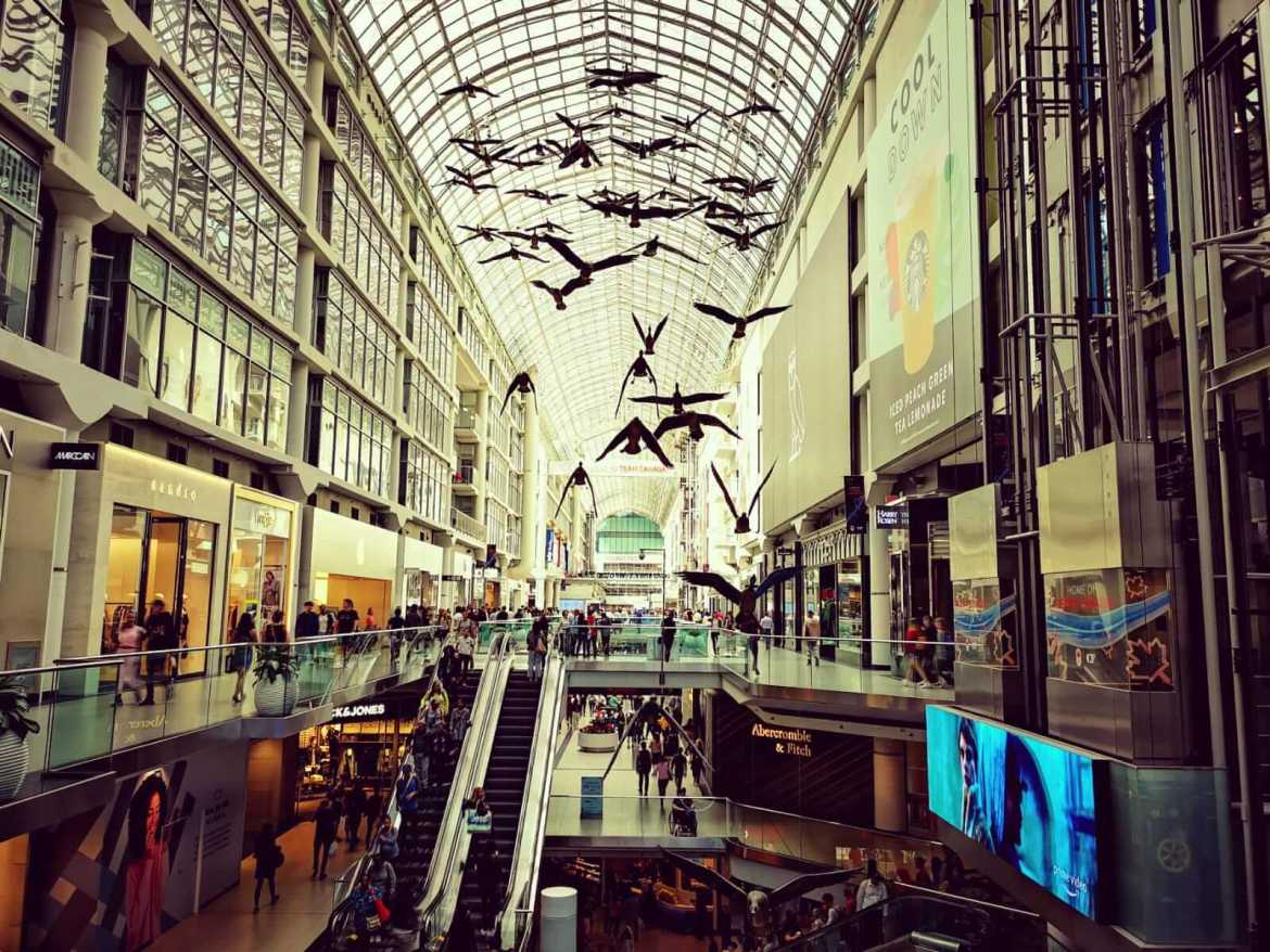 Toronto shopping malls - Eaton Centre