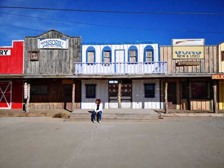 Fake Storefronts at the Seligman Depot in Arizona