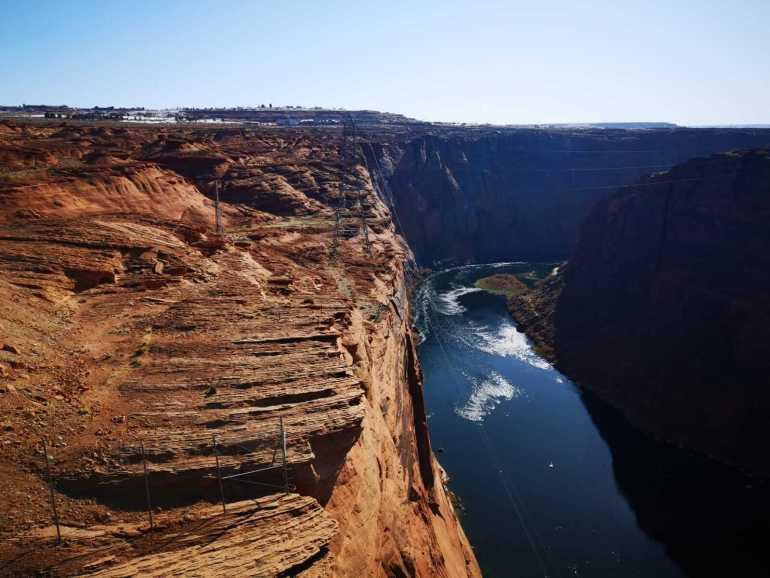 View of the Colorado river at the Glen Canyon Dam