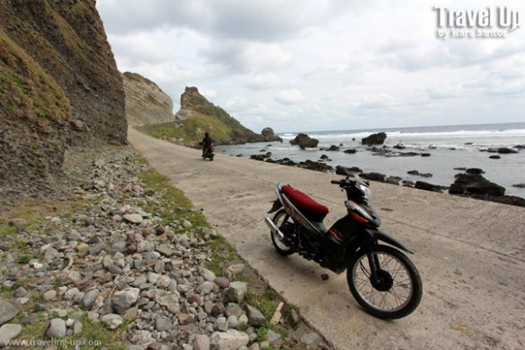 imnajbu road cliffs batanes motorcycle