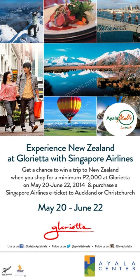 experience new zealand at glorietta poster