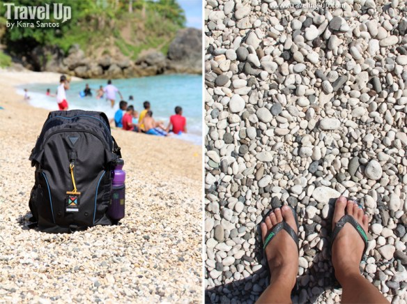 white pebbles beach minalabac camarines sur bag