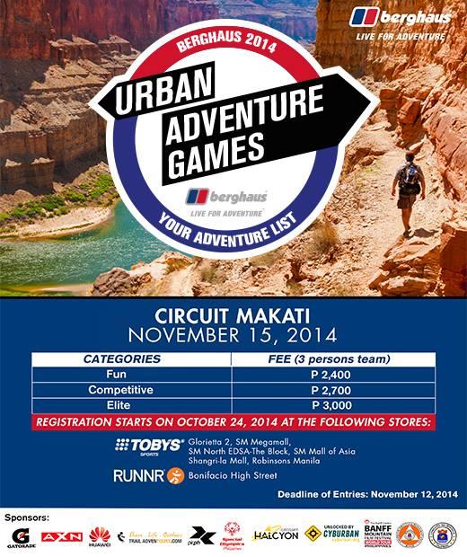berghaus urban adventure games 2014 poster