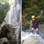 Rappelling Down a Waterfall in CamSur