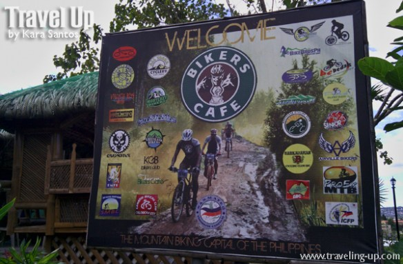 bikers cafe timberland sign