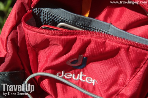 deuter spider 22L backpack front pocket