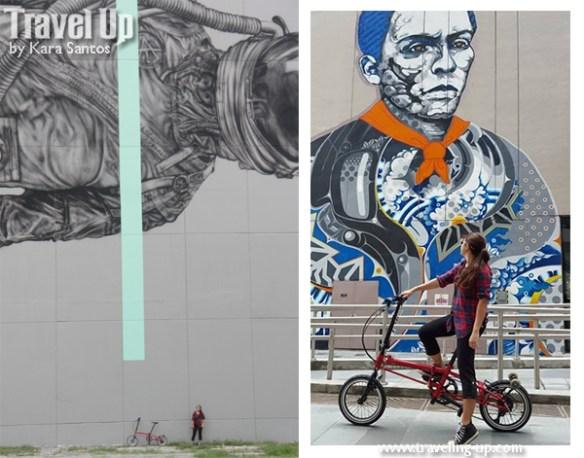 nyfti folding bike bgc astronaut andres bonifacio mural
