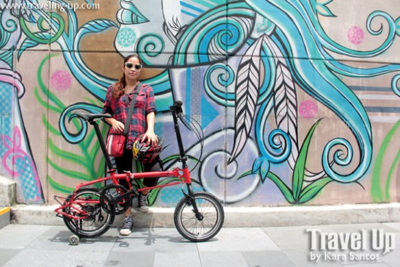 nyfti folding bike mural BGC