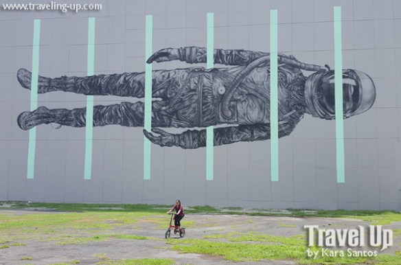 nyfti folding bike mural by cyrcle BGC