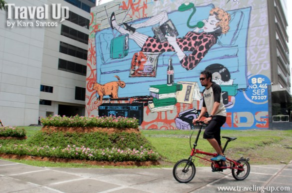 nyfti folding bike mural faile BGC outsideslacker