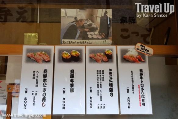 16. takayama japan morning market hida beef sushi