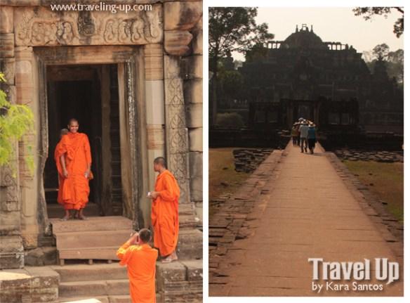 biking day 2 cambodia angkor archaeological park baphuon monks doorway