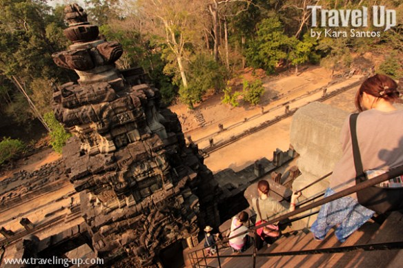 biking day 2 cambodia angkor archaeological park baphuon stairs down