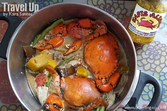 kapis aligue crabs from capiz cooked in gata