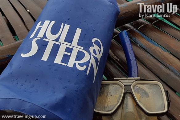 hull & stern dry bag snorkeling gear