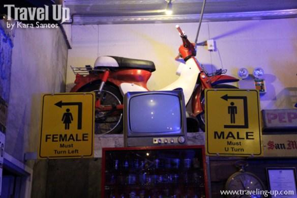 vintage garage bar legazpi bicol bathroom signs