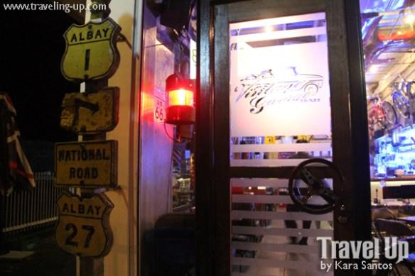vintage garage bar legazpi bicol entrance