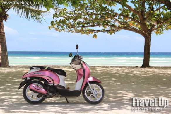bohol by motorcycle anda beach scooter
