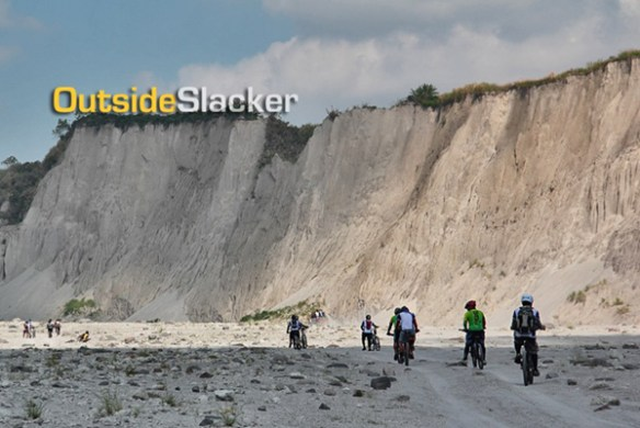 mt. pinatubo bikers landscape