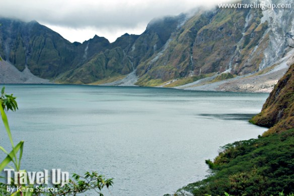 mt. pinatubo crater lake from above