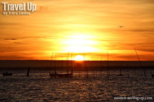 laguna lake sunset fishpens houses