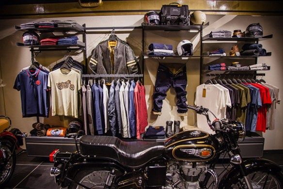 royal enfield motorcycle concept store apparel