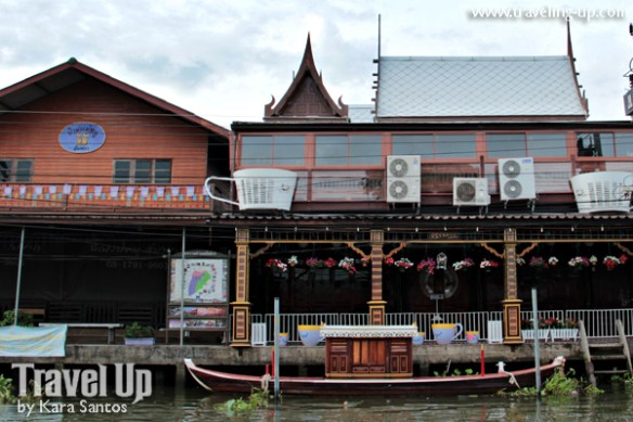 amphawa thailand riverside wooden shops cafes