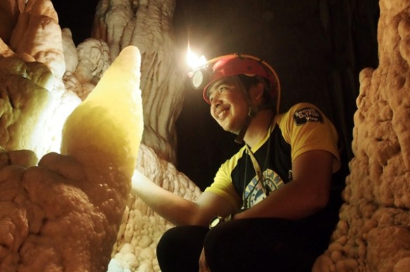 joni bonifacio in central cave photo courtesy of trexplore