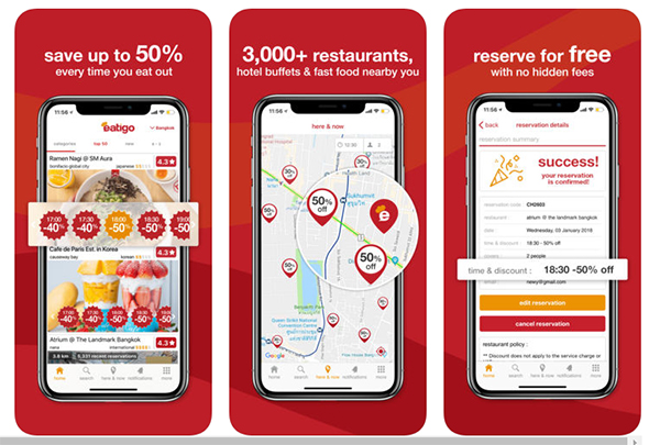 Reasons To Use The Eatigo App Travel Up - Table reserve app