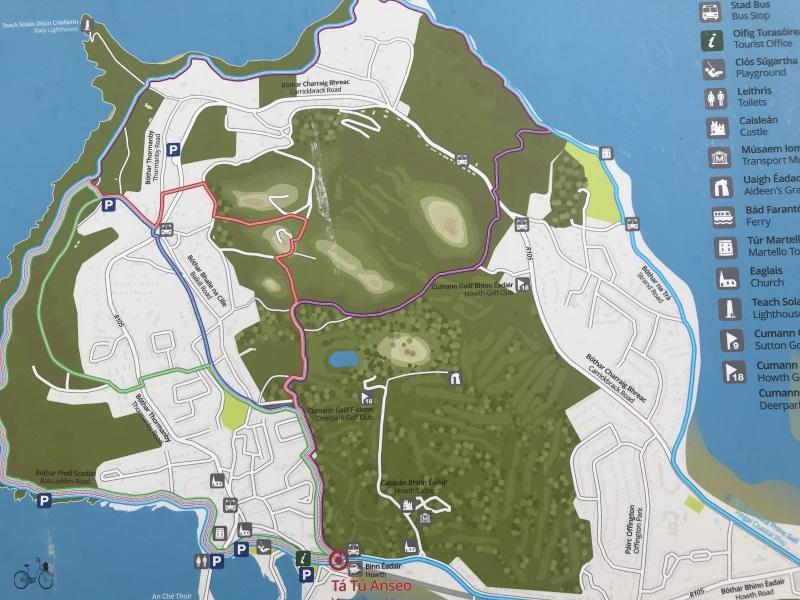carte sentiers de randonnée