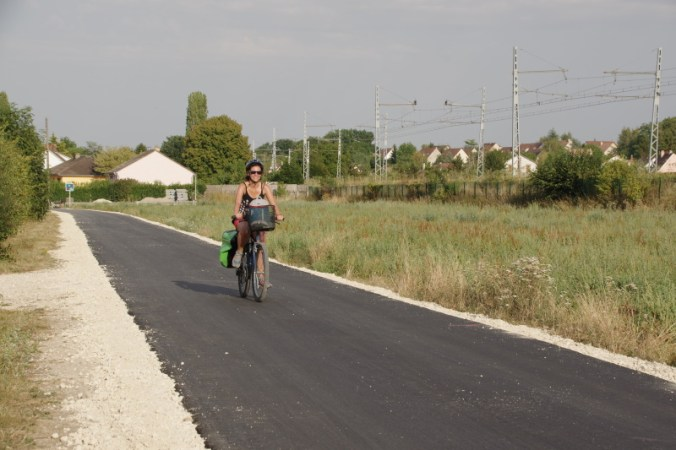 Travelingaddress à vélo sur la véloscénie