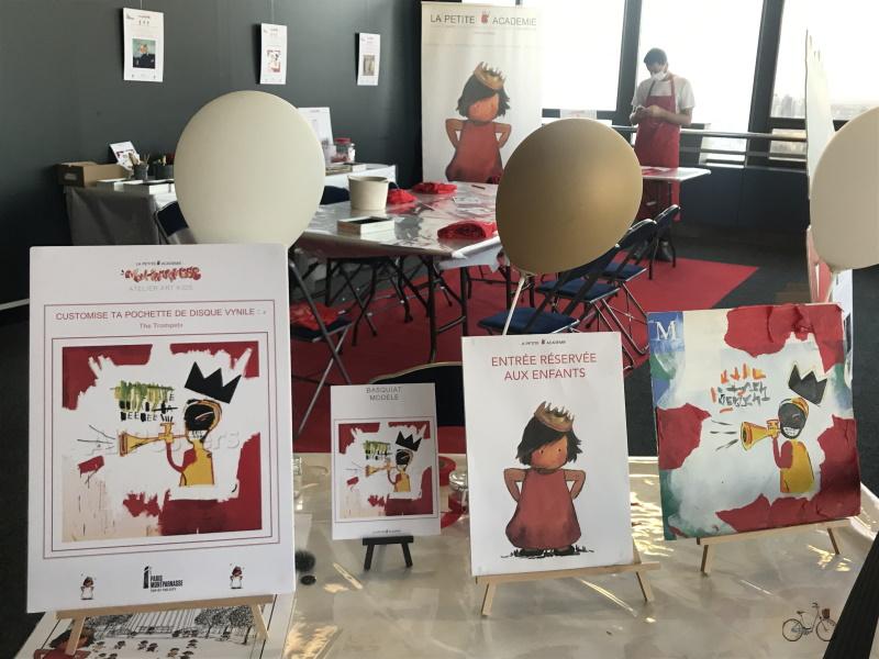 Décore ta pochette de Vinyle: atelier enfants tour montparnasse