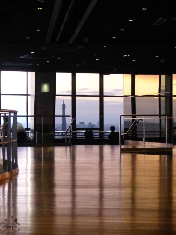 vue depuis la salle intérieur de la Tour Montparnasse