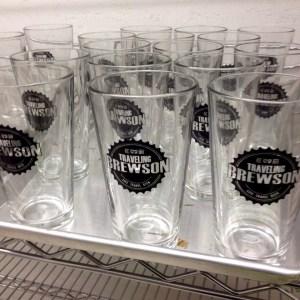 Traveling Brewson Pint Glasses