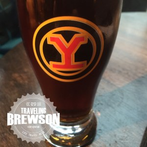 A pint of the Yaletown Ale in their signature glass.