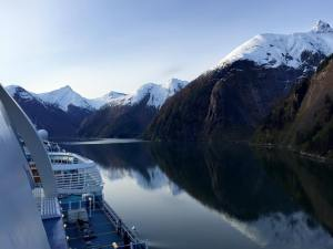 Ruby Princess in Tracy Arm Fjord - May 2015.