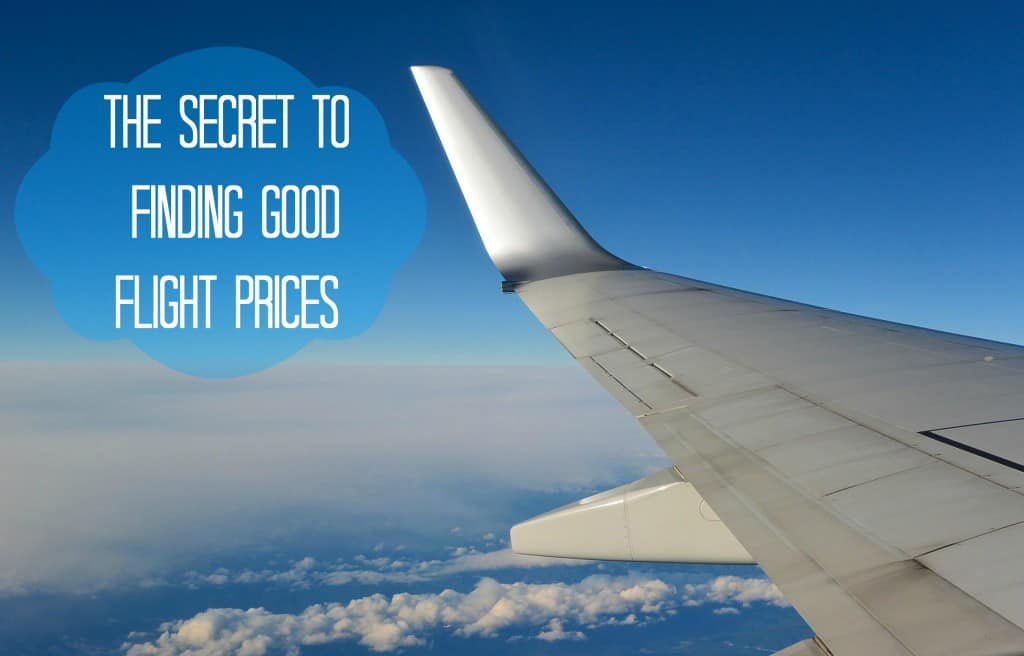 The Secret To Finding Good Flight Deals