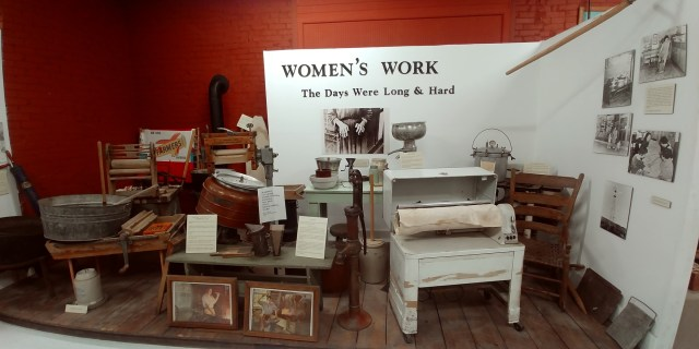 Womans work is never done display at the Wapello County Historical Museum