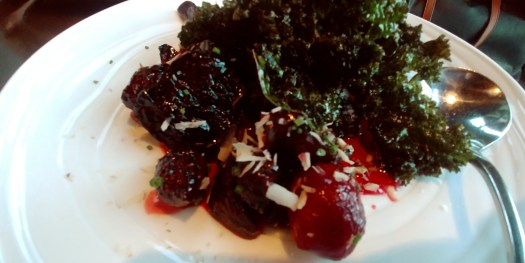 wood oven beet and kale