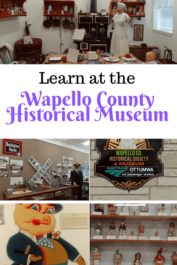 learn at the Wapello County Historical Museum