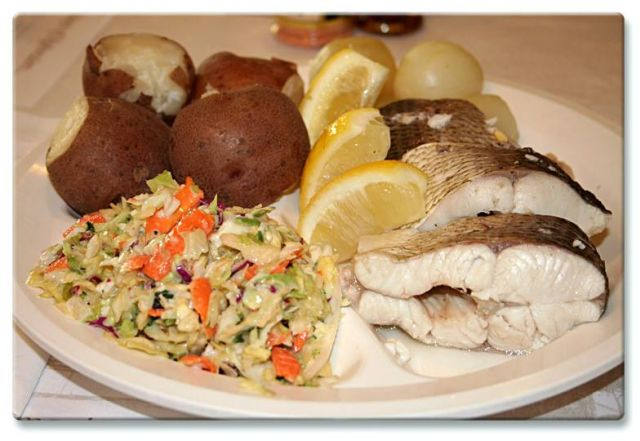 Door County Fish Boils food on a plate