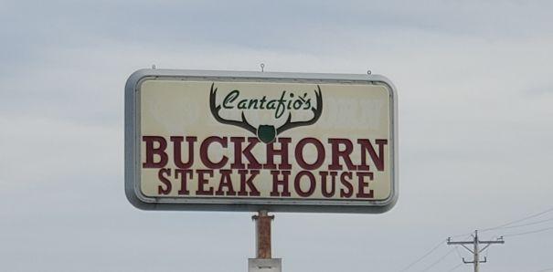 Cantafio's Buckhorn Supper Club sign