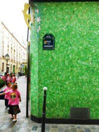 School children at the corner of Rue des Rosiers in Paris