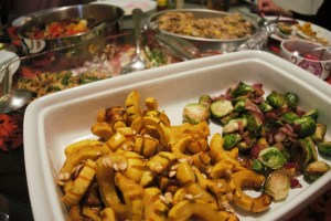 Delicata Squash, Brussel Sprouts and other dishes.