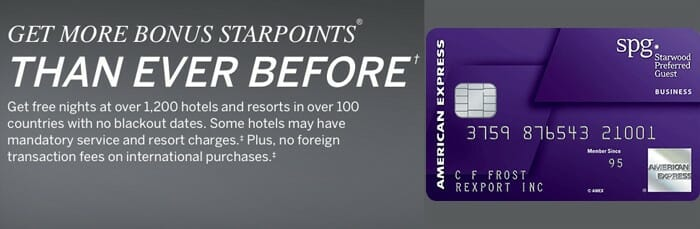 get 35 000 starpoints with the spg amex business cards - Spg Business Card