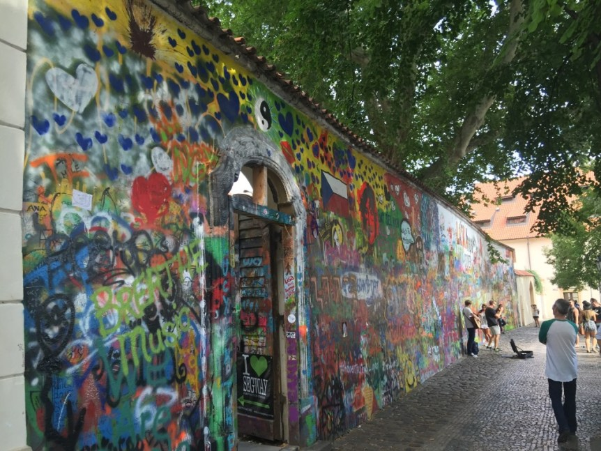 The Lennon wall – tagging as a tourist sight?